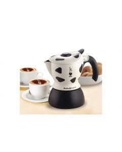 Bialetti Espressokanne Mukka Maculata Weiss Schwarz, 2 Tassen
