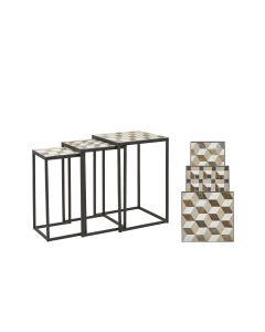 Villa Collection Beistelltisch Mosaic 3er Set