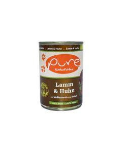 PURE Naturfutter Nassfutter Menü Lamm & Huhn 400g