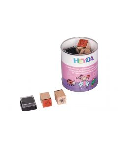 Heyda Motivstempel-Set Prinzessin/Fee, Braun/Orange