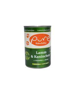 PURE Naturfutter Nassfutter Menü Lamm & Kaninchen 400g
