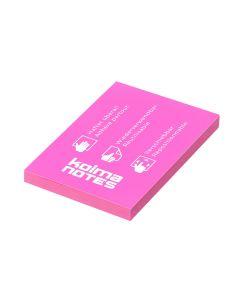 Kolma Notizzettel NOTES A8 Pink, 100 Blatt