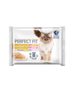 Perfect Fit Nassfutter Sensitive mit Lachs & Huhn 4x85g