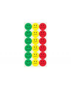 Sigel Klebepunkte 20 mm 180 Stück, Gelb/Grün/Rot