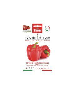 Blumen Saatgut Paprika Quadrato Asti Rosso