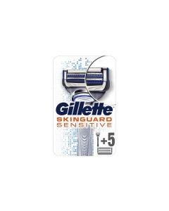 Gillette SkinGuard Sensitive Herrenrasierer mit 5 Systemklingen