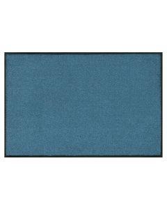 wash+dry Fussmatte Stahlblau, 50 cm x 75 cm