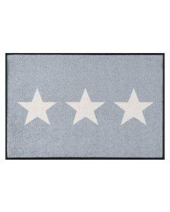 wash+dry Fussmatte Stars grey 50 cm x 75 cm