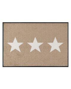 wash+dry Fussmatte Stars sand 50 cm x 75 cm 50 cm/50 cm x 75 cm