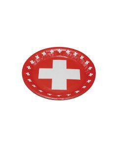 Haushaltsware Teller Schweizerkreuz, 8 Stück
