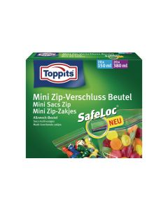 Toppits Gefrierbeutel Mini Zip-Verschluss SafeLoc 40 Stück