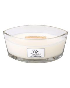 Woodwick Duftkerze White Tea & Jasmin Ellipse