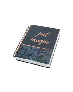 Jolie Notizbuch Mystic Jungle A5, Dot, Blau/Schwarz/Kupfer