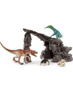Schleich Spielfigurenset Dinosaurs Dinoset mit Höhle
