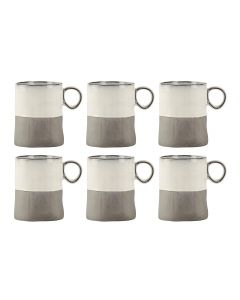 Villa Collection Kaffeetasse 0.3 l, 6 Stück, Grau/Weiss