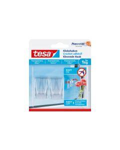 tesa Klebehaken 1 kg für transparente Flächen