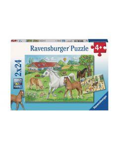 Ravensburger Puzzle Auf dem Pferdehof