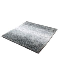 Kleine Wolke Badteppich Oslo Platin 60 x 60 cm, Silber