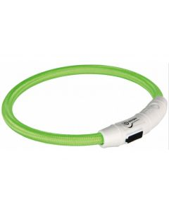 Trixie Leuchtring Safer Life M-L grün